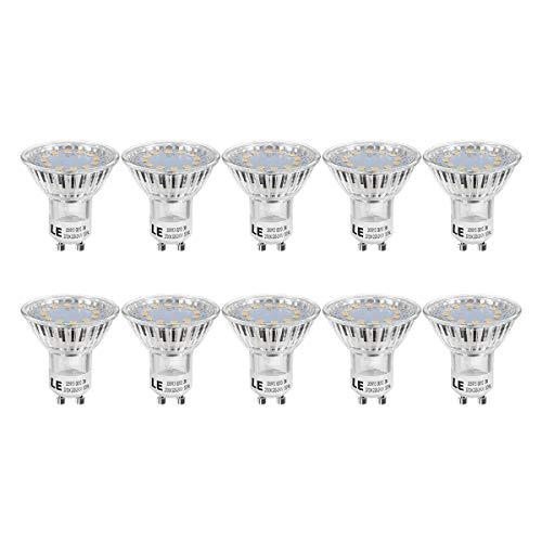 LE GU10 LED Lampe, 3W 250 Lumen LED Leuchtmittel, 2700 Kelvin Warmweiß ersetzt 35W Halogenlampen, 120 Grad Abstrahlwinkel, 10er Pack