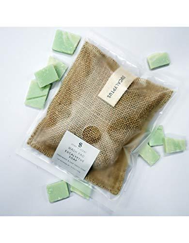 Sensei La Maison du Coton Handgemaakte zeep, jute zak, peeling, Wash Pad 140gr Eucalyptus