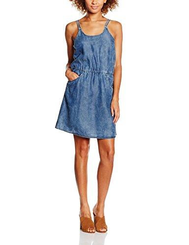 ONLY Damen onlBRANDY Strap DNM Dress Box Kleid, Blau (Dark Blue Denim), 42