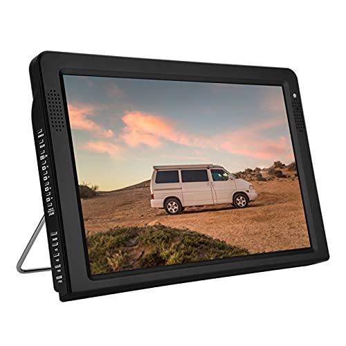 Tragbar Fernseher,12.1 Zoll Tragbarer Mini Fernseher 1080P HD Mini TV mit 1500mAh großer Batterie...