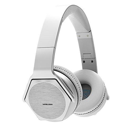 VEENAX HS3 Auriculares Inalámbricos Over-Ear, Altavoz Portátil, Cascos Bluetooth Deportivos & Altavoz en uno, Audífonos Estéreo con Micrófono NFC y Bajos para iPhone Smartphone MP3 Tablet MP3, Plata