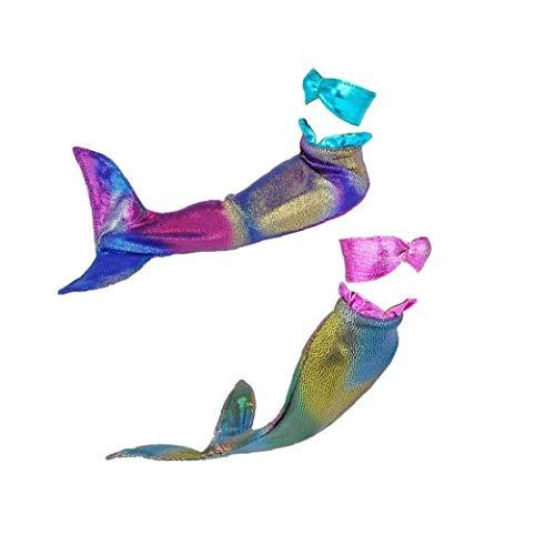 ZYCX123 Puppe Mermaid Badeanzug Sommer Bikini-Badebekleidung Badekleidung für die 29cm Barbie-Puppe 2Set
