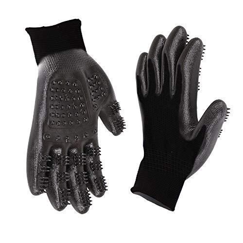 YABAISHI Five Fingers Bath Gloves Hond en Kat Supplies Carding Verwijder Hair Comb Pet Products Massage Hair Handschoenen (Color : Black)
