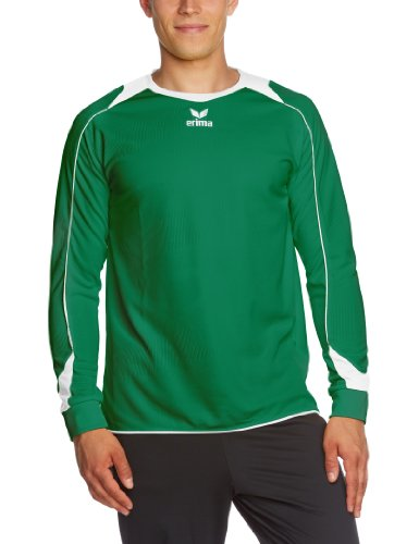 erima Trikot Santiago Langarm - Camiseta de equipación de fútbol para niño, Color Verde/Blanco, Talla 2XL