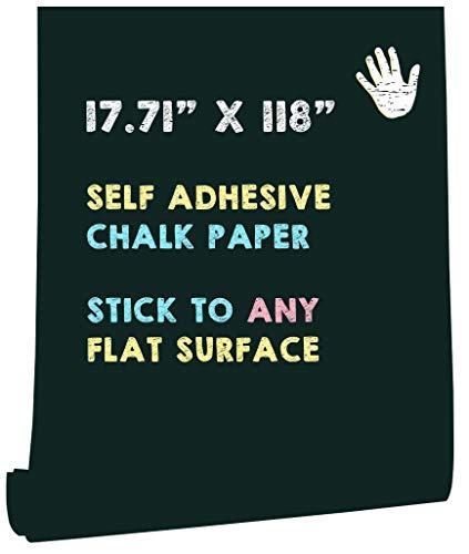 HeloHo 118'X 17.71' Green Chalkboard Contact Paper Self Adhesive...