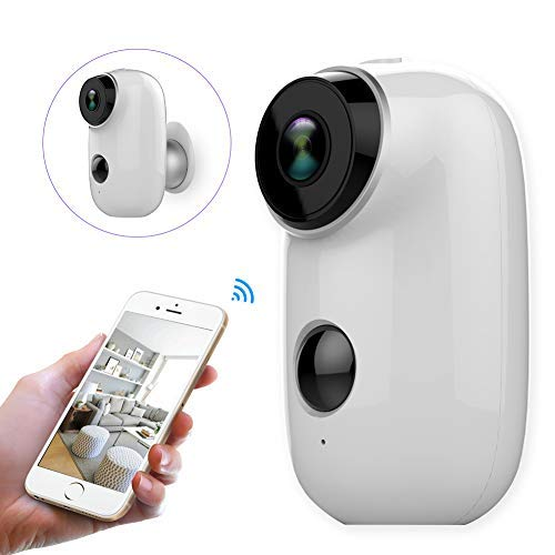 Wifi Security Camera Home Camera Rechargeable Battery Power Operated...