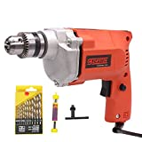 Cheston 10mm Powerful Drill Machine for Wall, Metal, Wood Drilling with 13 HSS...