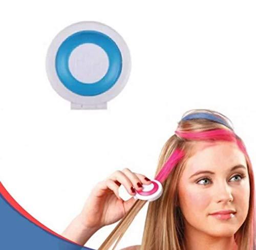 Haarkreide Kamm, blau, für 1 Tages Anwendung, schöner Color Effekt, leicht auswaschbar, Festivalkracher und Weggeh tauglich