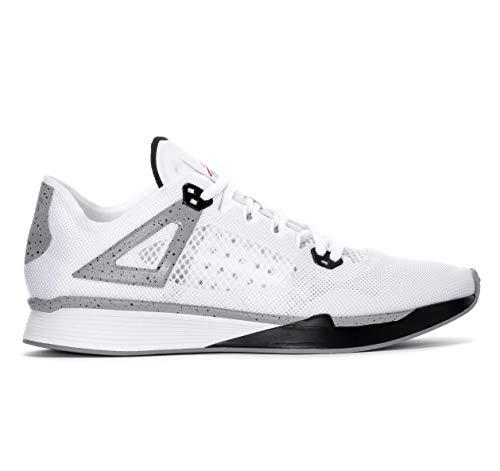Jordan Nike 89 Racer White Black Cement Grey AQ3747 100 (8.5), White, Size 8.5