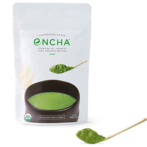 Encha Ceremonial Organic Matcha (USDA Organic Certificate and Antioxidant Content Listed, Premium...