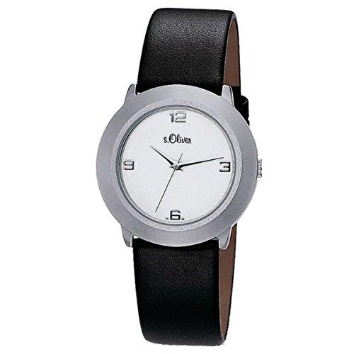 s.Oliver Damen-Armbanduhr Analog Quarz Leder SO-15060-LQR