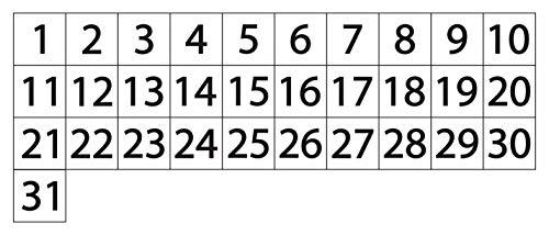 magnetic calendar numbers - 4