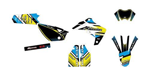 4 Miniplatten gratis Dekokit Motocross Yamaha PW 50 Splash Rosa