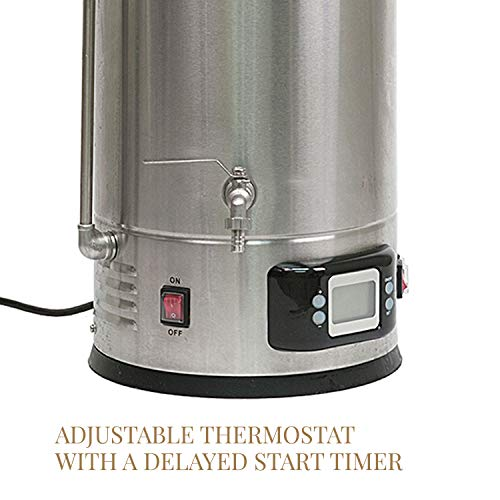 Product Image 2: Brewer's Edge Mash and Boil with Pump   All Grain Home Brewing System 7.5 Gallon