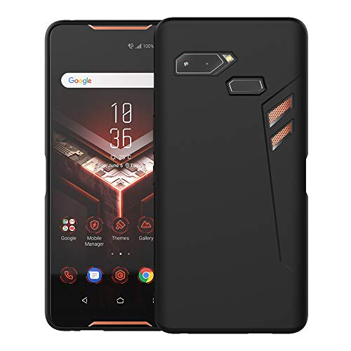 KEEPXYZ ASUS ROG Phone Case, Soft Flexible TPU Case Cover Slim Thin Lightweight Bumper Shockproof Anti-Scratch Protective ROG Phone Case Skin Shell for ASUS Rog Phone ZS600KL 6.0 Inch - Black