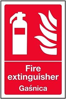 VSafety 13091AG-SInglés/polaco extintor cartel, 100 x 150 mm ...