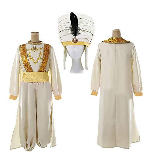 Xwenx Uniforme de disfraz unisex para Halloween, disfraz de Aladdin, talla L
