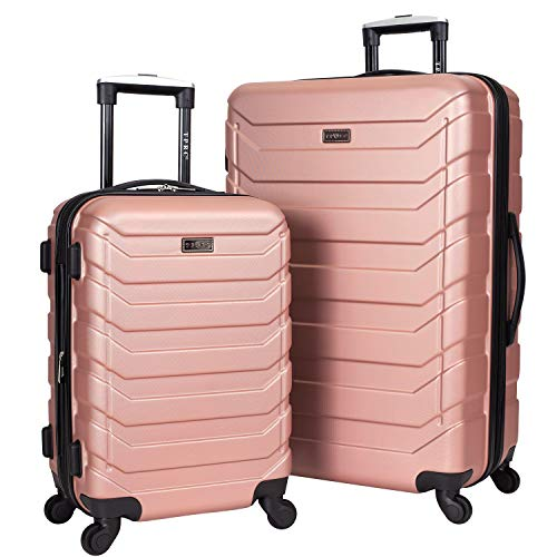 TPRC Expandable Spinner Hardside Luggage Set, Rose Gold, 2-Piece (28' and 20')