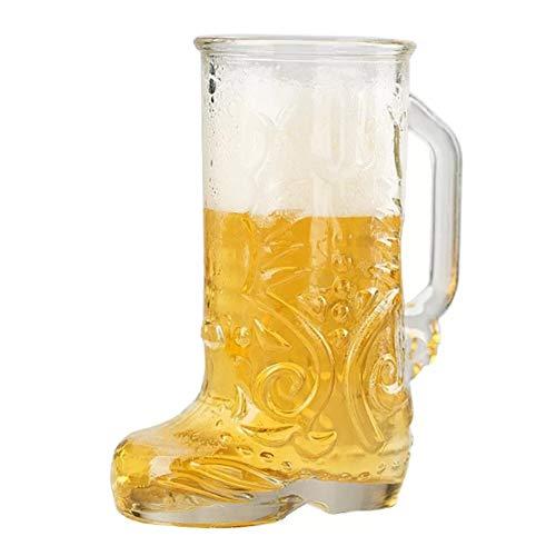 Botas De Cerveza Botas para Beber, Botas De Vidrio De Cerveza con Mango Taditoneller...