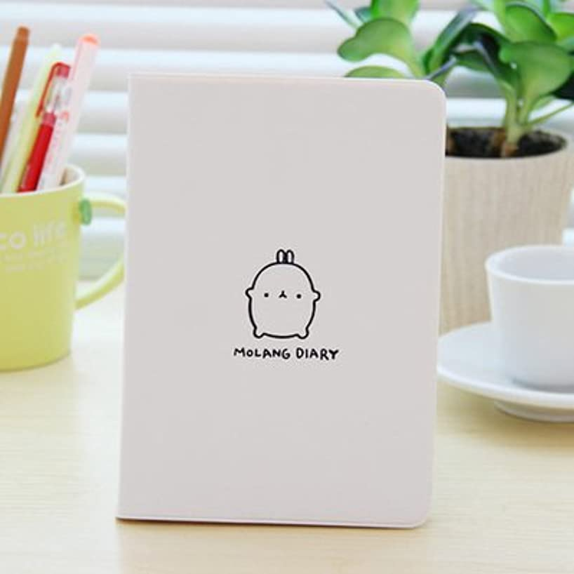 Yumbyss - 子供のn文房具学用品のためのかわいいかわいい漫画の脂肪ウサギジャーナルノート日記プランナーのメモ帳[ホワイト]