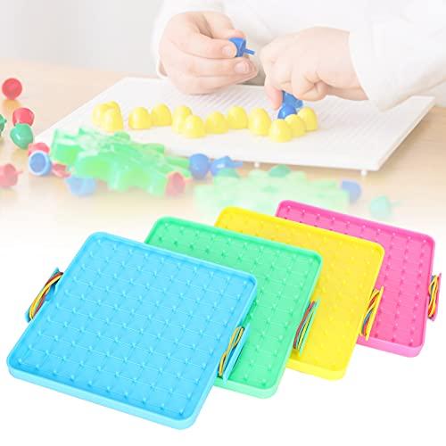 CUYT Pegboard, Pegboard Material didáctico de plástico para el hogar para la Escuela para niños para Estudiantes
