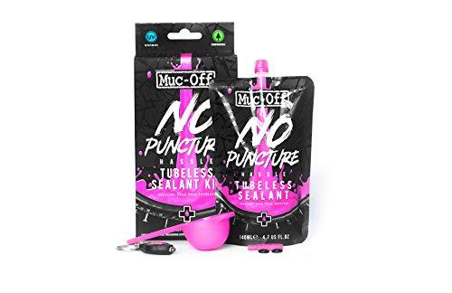 Muc-Off Tubeless Dichtungsset für schlauchlose Reifen – Fortschrittliches Dichtungsset für Fahrradreifen, mit UV-Tracer-Farbstoff, der Risse und Löcher bis zu 6 mm dichtet