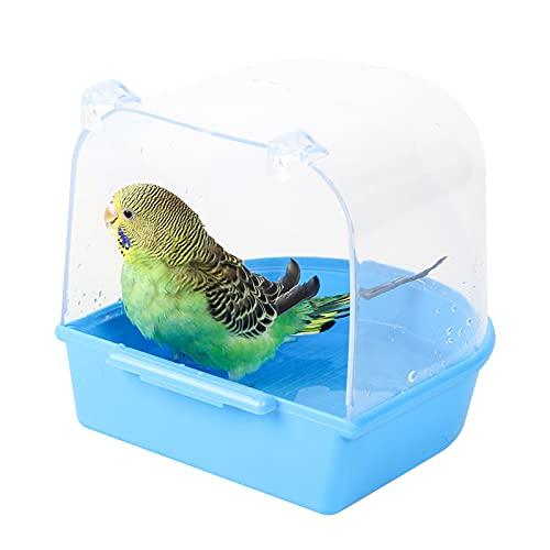 Jodsen Bañera para pájaros,Accesorios para pájaros,Suministros para jaulas de pájaros con Ganchos,Ducha de Agua,Bandeja para pájaros pequeños para Canarios, periquitos,Loro...