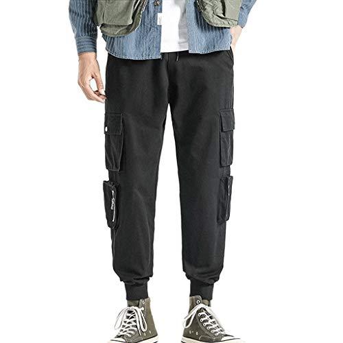 KEERADS Pantalons Militaire Motif Camouflage, Homme Pantalon Casual Imprimé Casual Loose Taille Sport Trousers Multi Poches Ceinture élastique