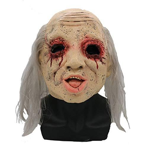 Miaoao-mask Horror Maske, blutig Alten Geist-Halloween-Latex Scary Kostüme Partei Rubber Latex-Masken for Erwachsene