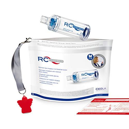 CEGLA RC-Chamber® mit Mundstück, Inhalierhilfe für Erwachsene und Kinder ab 5 Jahren – leichter und effektiver inhalieren, mit Schutzengelkonzept für mehr Sicherheit, bei Asthma und COPD