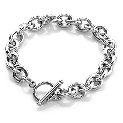 SEIYA INTERNATIONAL Bracelet, Men's, Women's, Accessories, Stainless Steel, Toggle Chain, Silver, Stainless Steel, sliver