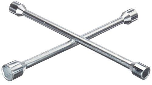Autoteile Junge Radkreuz/Radmutternschlüssel/Kreuzschlüssel, DIN 899, mit Schlüsselweiten 17 x 19 x 21 x 23 mm