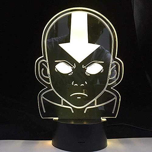 ilusión 3D Luz Nocturna Infantil Tipo de dispositivo lámpara de escritorio creativa para cumpleaños Cambio de color colorido, con interfaz USB