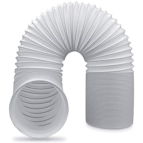 Tubo Scarico Climatizzatore Portatile, Flessibile In Pvc, Diametro 130 Mm, 1.5/2 M, Perfetto Per Impianti Di Climatizzazione, Asciugatrici E Cappe Aspiranti