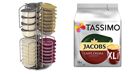 Tassimo Jacobs Caffè Crema Classico XL, + Tassimo Ständer passend für NEU 64 T-Disc