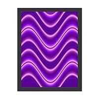 INOV 波 紫色 ポスター フレーム付き おしゃれ インテリア インテリア雑貨 アート アートポスター 絵画 絵 壁掛け 30X40CM