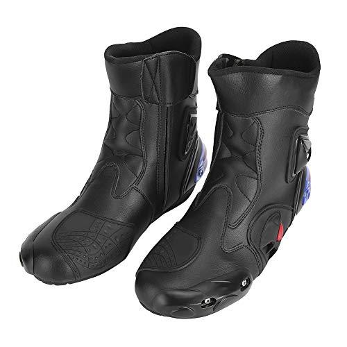 Bediffer Zapatillas de Motocross Zapatillas de Carreras Premium Botas intermedias para Ciclismo para Mejorar la Apariencia para un Paseo cómodo para Exteriores(Black, 45)