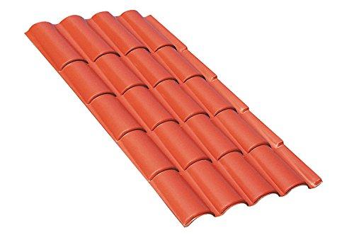 Tegole tettoia Lastre di copertura termoplastiche dall'aspetto naturale, simile a quello di una copertura tradizionale in coppi di laterizio.