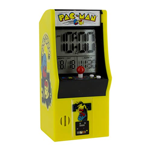 Pac Man Arcade Alarm Clock, Multi-Colour, 8 x 10 x 16 cm