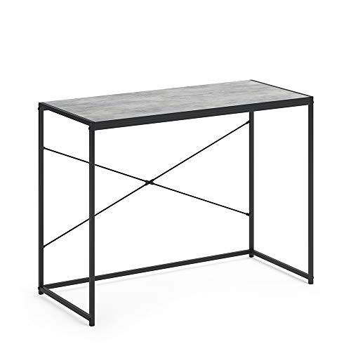 Vicco Loft Schreibtisch Fyrk Bürotisch Arbeitstisch PC Tisch 100 x 45 cm (Beton-Optik)