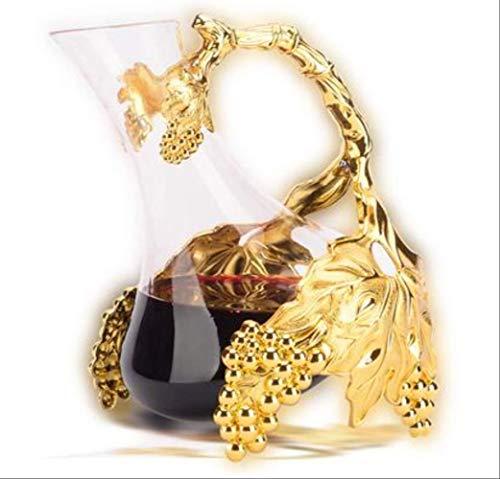 BLI Decantadores de Vodka de Vino Decantador de Vidrio de Color Plateado/Dorado Vaso de Bebida Creativo Forma de Vino Decantadores de Vino21 × 17 × 21cm