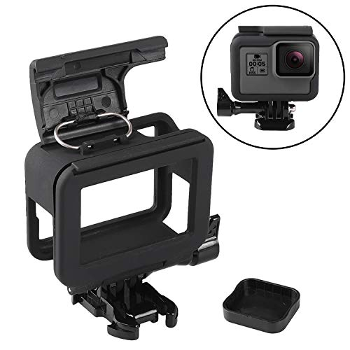 JINHEZO for GoPro Hero 5 / GoPro Hero 6 / GoPro Hero 7 Frame Clear View Shell, Protective Skeleton Housing Case, Protective Case with Quick Release Buckle, Long Thumb Bolt Screw, and Lens Cap, Action