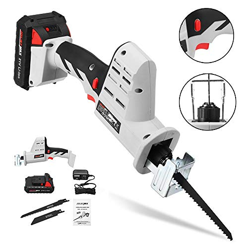 Reciprocating Saws Kit, 21V Power Tools Drill Drivers, Portable Charging Cordless Electric Reciprocating Sawing Wood Tool for Wood and Metal Cutting