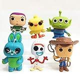 HOOPOO Toy Story Modelo De Animación, Modelo De Estatua, Servicio De Decoración, 13cm 1 Juego De 6...