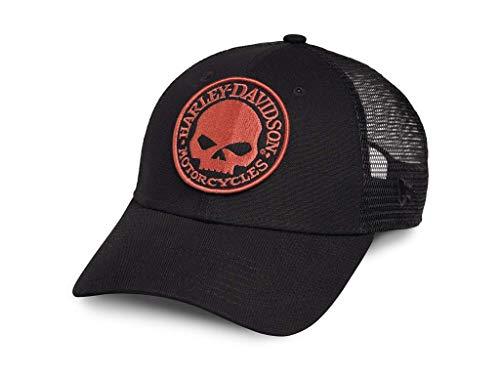 HARLEY-DAVIDSON Trucker Cap Willie G Skull Schwarz Orange