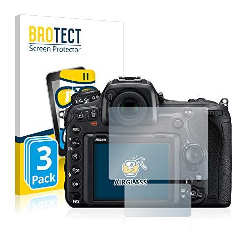 BROTECT Protector Pantalla Cristal Compatible con Nikon D500 Protector Pantalla Vidrio (3 Unidades) Dureza 9H AirGlass