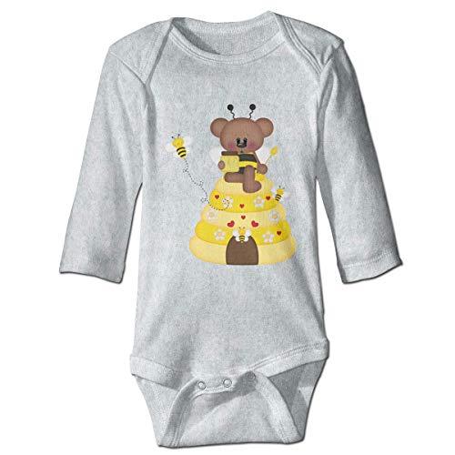 Bear Bee Combinaison à manches longues pour bébé - Gris - 18 mois