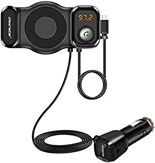 Onever 2 in 1 Phone Holder FM Transmitter Handsfree Bluetooth Car Kit Radio Modulator Car MP3 Audio Player Support SIRI Fu...
