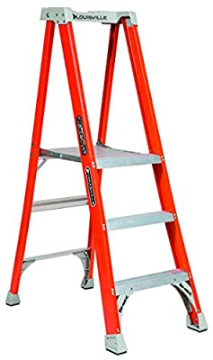 Louisville Ladder FXP1700 Fiberglass Pro Extended Rail ProTop Platform Ladder TYPE IA