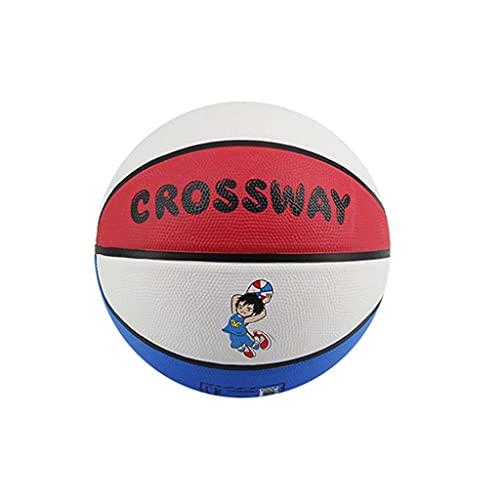 YCX Rubber Kids Basketball Größe 3-4-5 Indoor und Outdoor Basketball Cartoon Basketball, geeignet für Kinder und Jugendliche, es Wird EIN tolles Geschenk für Kinder, die Basketball mögen